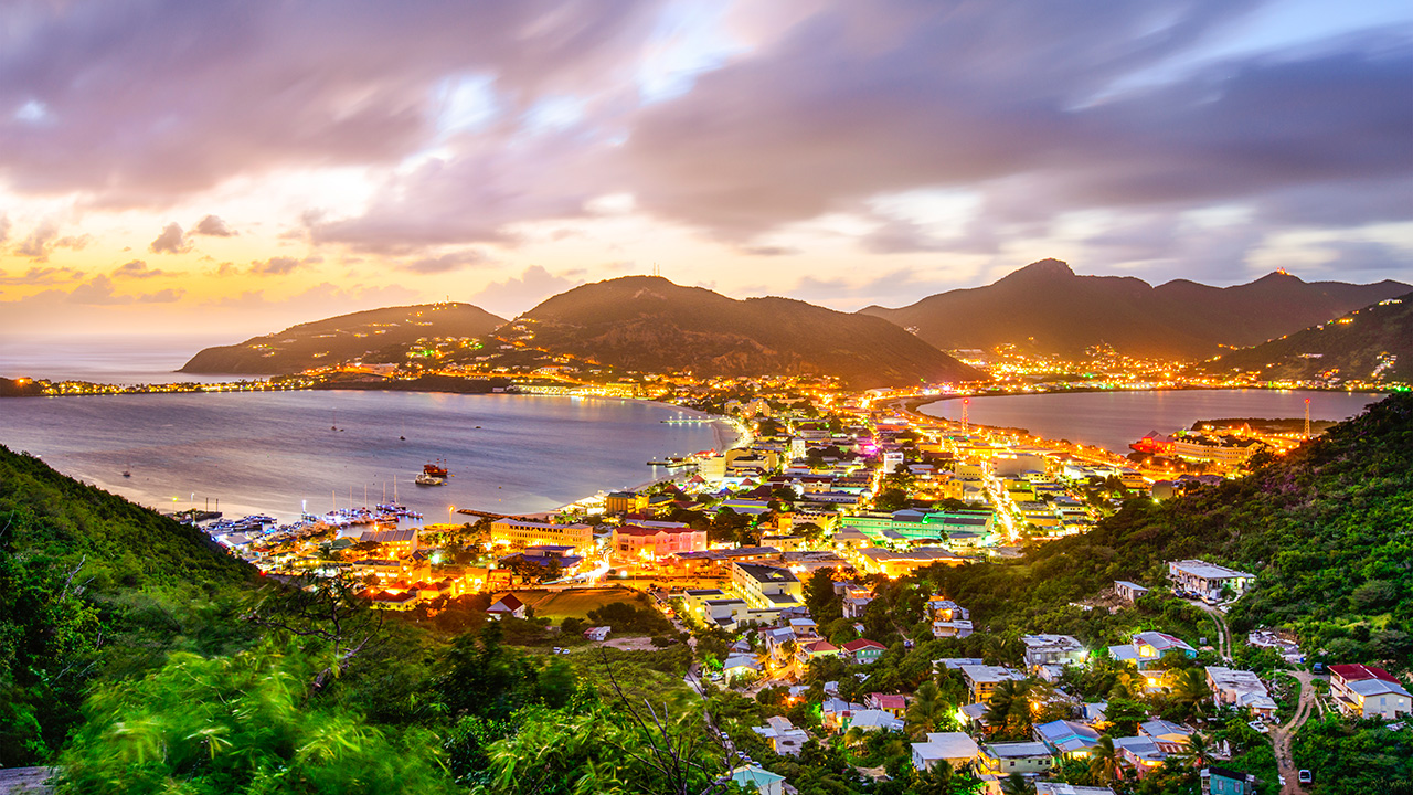 Philipsburg By Night in Sint Maarten