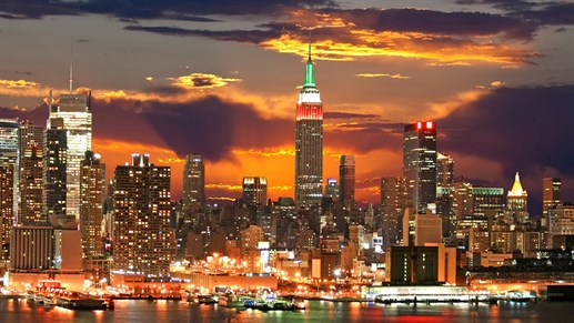 New York at night - new york om aftenen