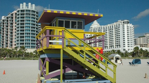 Florida - Livreddertårn, South Beach i Miami