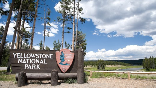 Indgang til Yellowstone National Park