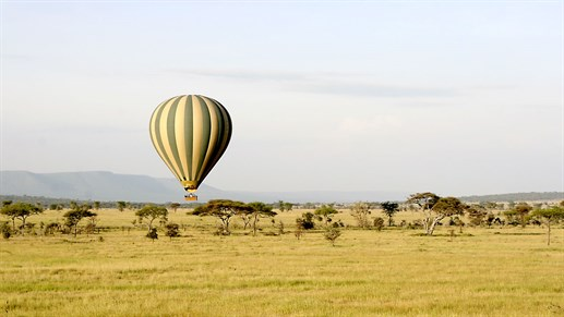 Luftballon over Serengeti - safari i Afrika