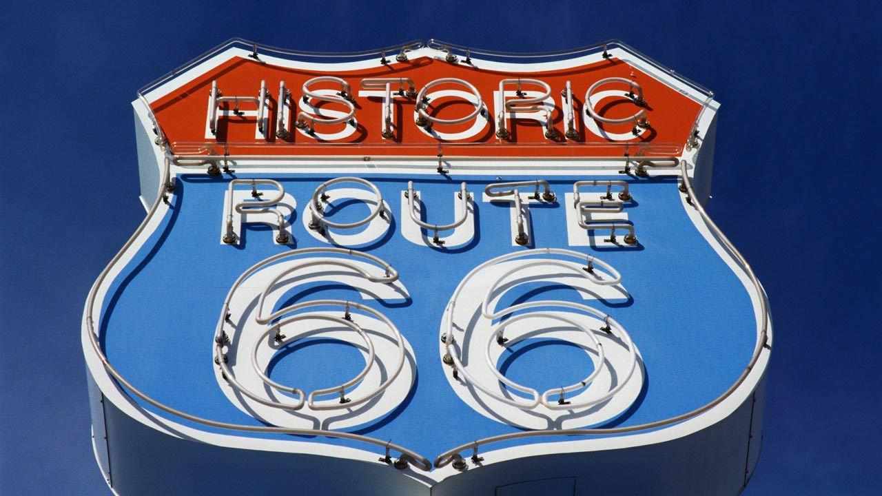 Road Trip På Route  I USA Kør På Route  KILROY - Road trip route 66 usa