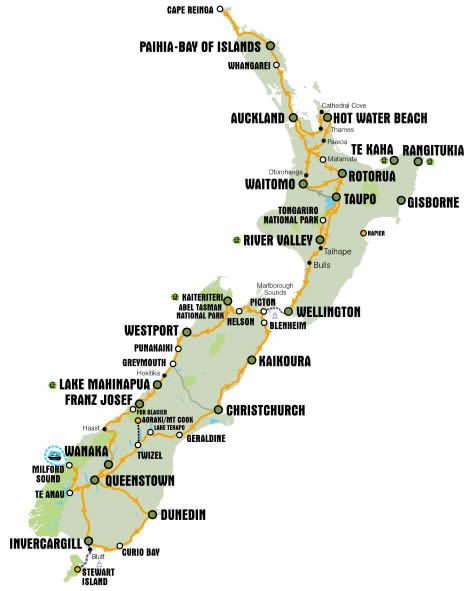 KIWI Experience route network