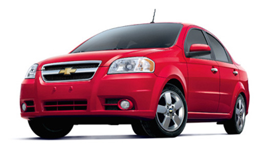 Economy category car rental, Chevy Avea or similar