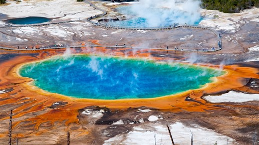 Grand Prismatic Spring I Wyoming I Yellowstone National Park I USA 1280x 720