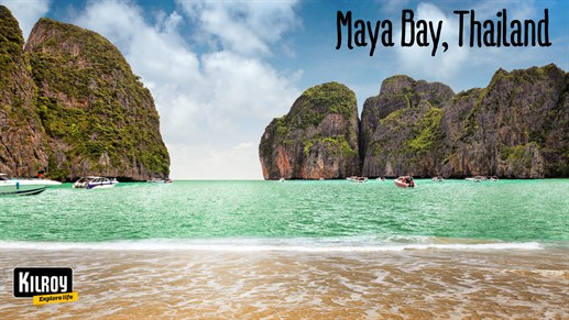 Maya Bay - Strand - The Beach - Thailand - Where The Beach Was Filmed - Hvor The Beach Blev Optaget 1280x 720