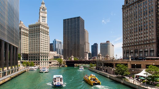River -cruise -i -chicago -sejle