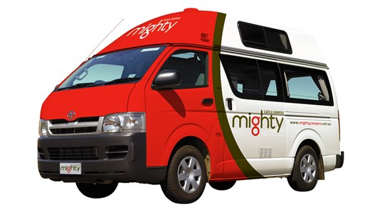 Lej en Mighty Jackpot campervan i New Zealand
