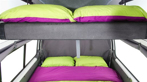 Condo Campervan - night layout - sleeps 4 people
