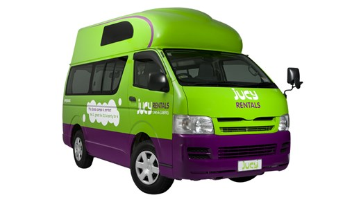 Jucy Condo campervan i New Zealand