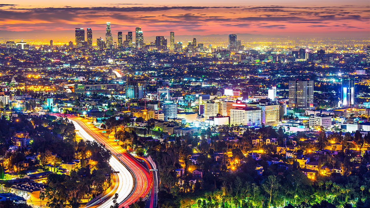 Los Angeles by night - rejs til Californien