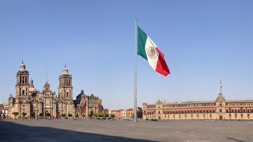 Plaza Zocalo i Mexico City