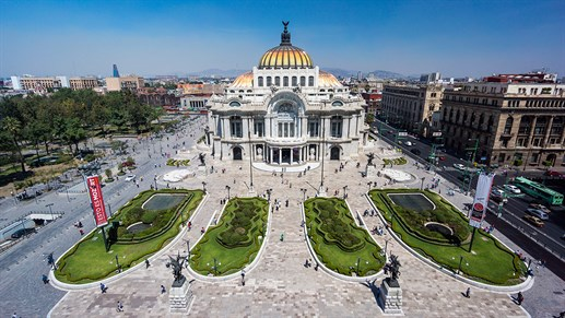 Palacio De Bellas Artes i Mexico City